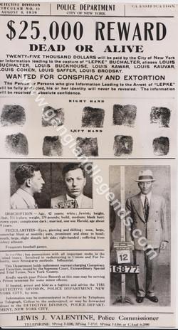 Circular Wanted Louis Lepke Buchalter 1939 version 2