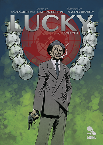 LUCKY Dope Men Comic Book Cover
