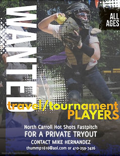 travel players wanted - Made with Poster