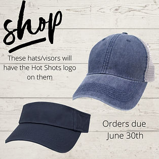 These hatsvisors will have the Hot Shots