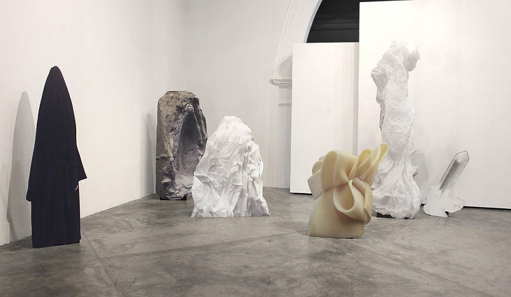 EVEREST, Snow mountain, art, installation