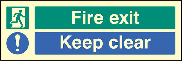Fire exit keep clear