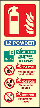 L2 Powder fire extinguisher identification