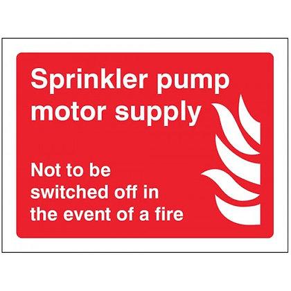 Sprinkler pump motor supply
