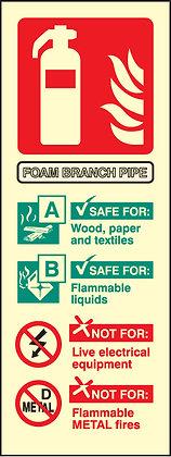 Foam branchpipe identification