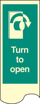 Door Plate - turn to open