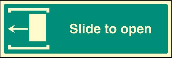 Slide to open - left