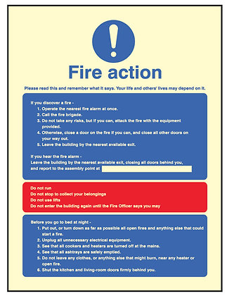 Fire Action - Residential & HMO's