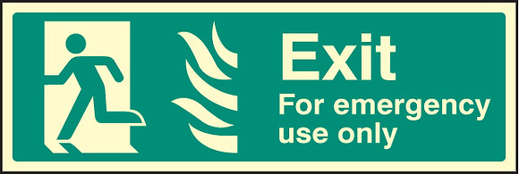 Fire exit - For emergency use only (HTM)