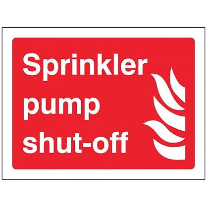 Sprinkler pump shut off