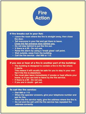 Fire Action - stay put policy