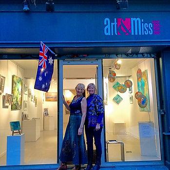 Olivia at her Paris exhibition