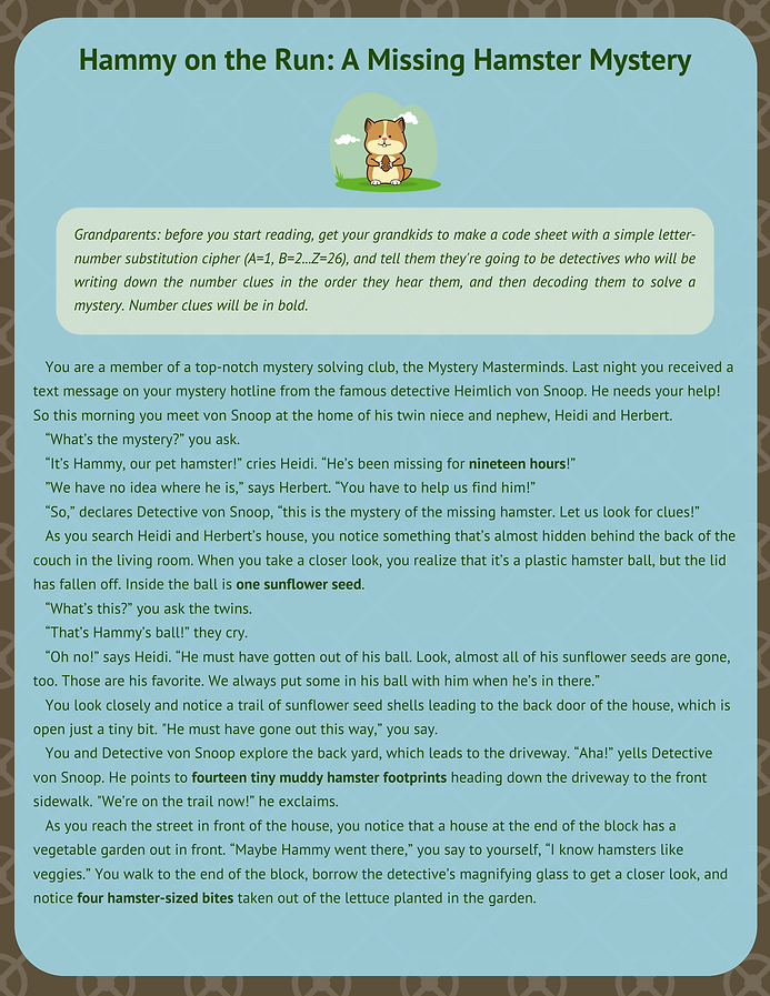 Hammy on the Run_ A Missing Hamster Myst