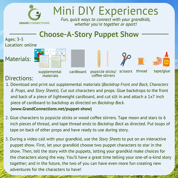Choose A Story Puppet Show Mini DIY Expe