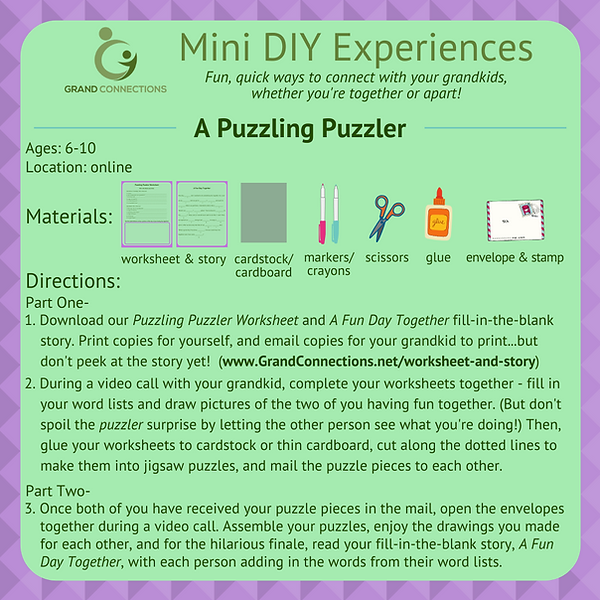 A Puzzling Puzzler Mini DIY Experience.p