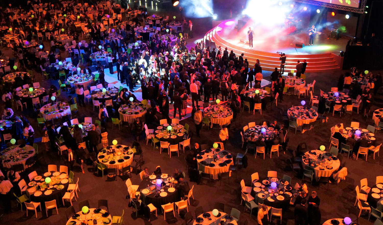 Galas with live entertainment