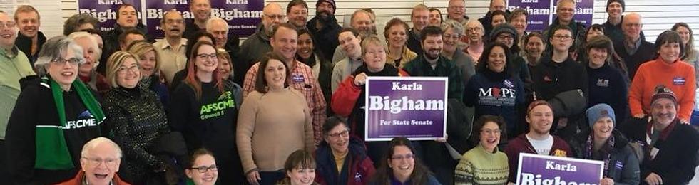 MN State Senator Kara Bigham Volunteers