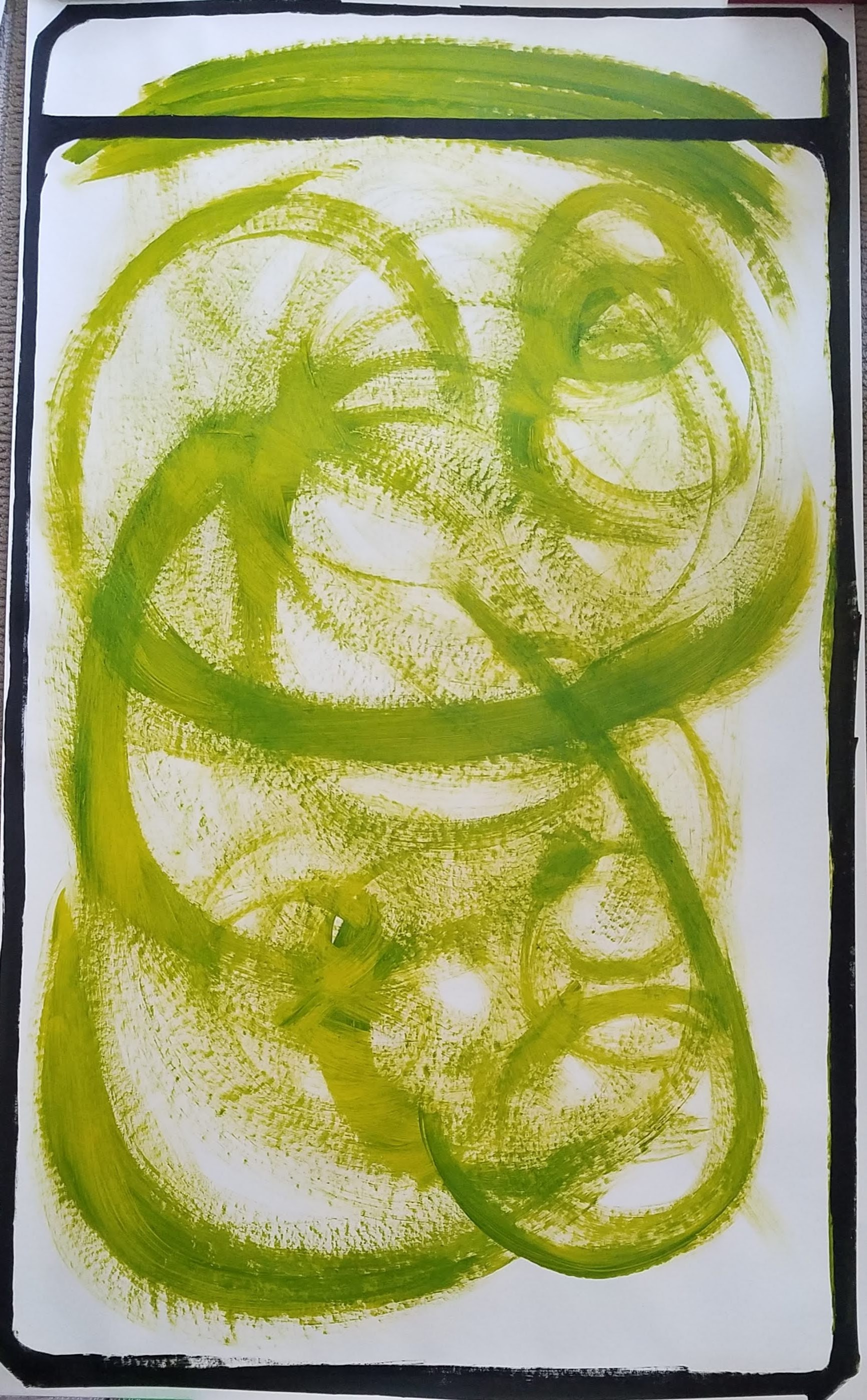 Australian Yellow Green Polaroid