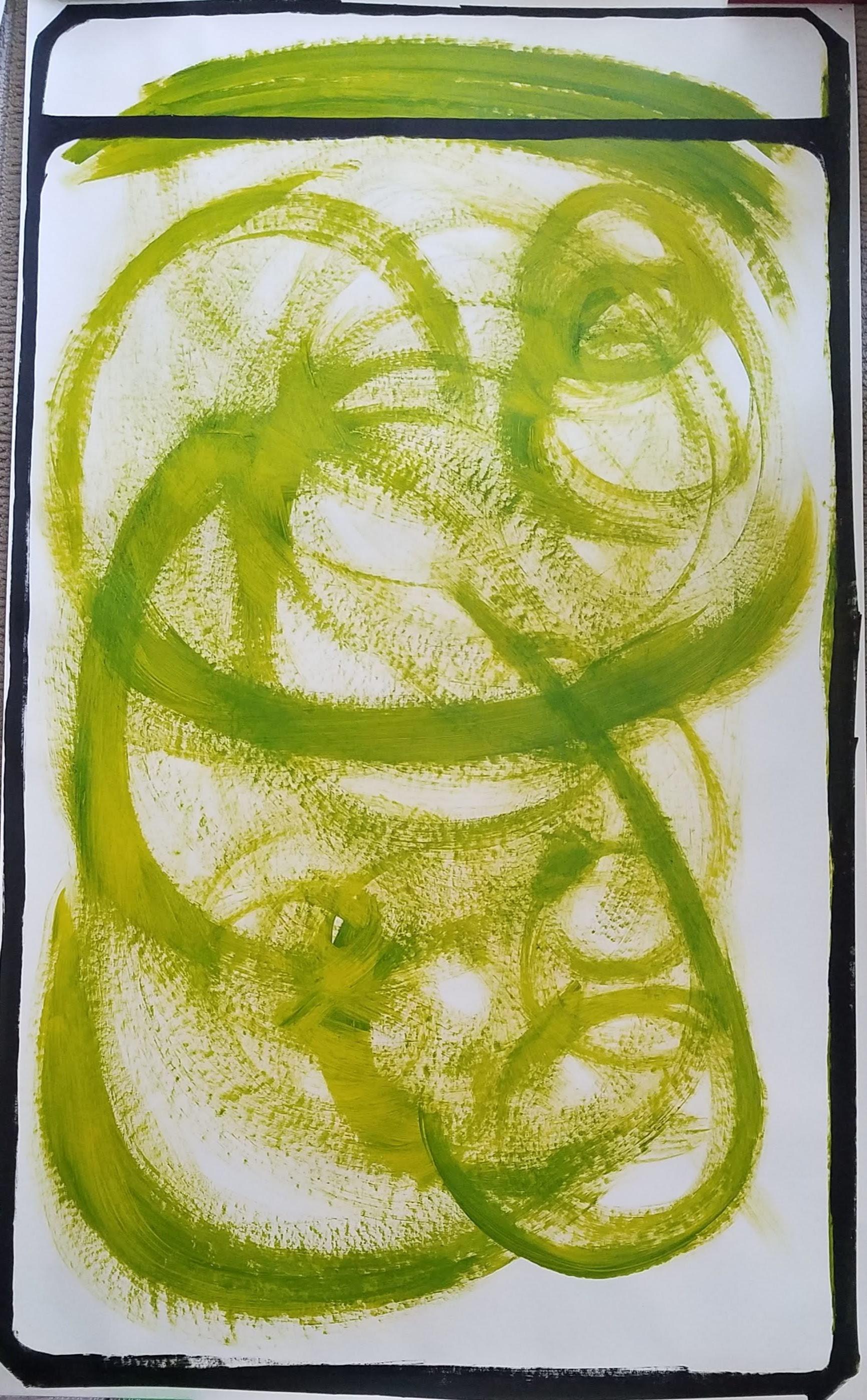 Australian Yellow Green Polaroid