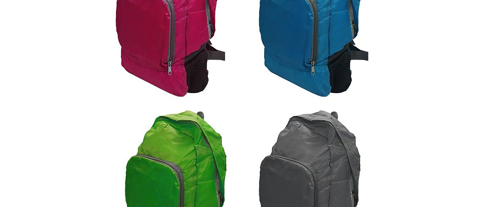 Paquete de 4 mochilas de colores.