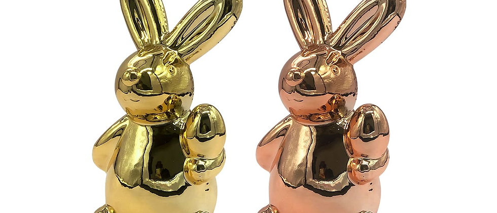 Paquete de 2 Alcancías de Conejo de Pascua