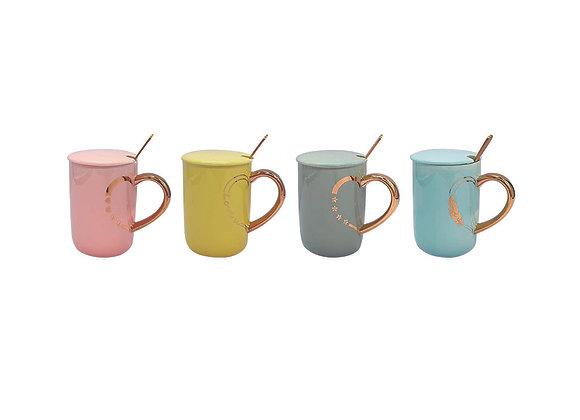 Paquete de 4 Tazas para café con mango creativo.