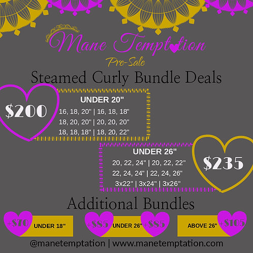 Longer Steamed Curly Pre-Sale Deal