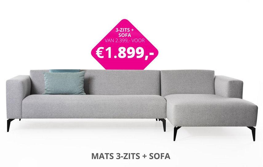 foto Mats 3 zits + sofa cons actieprijs.