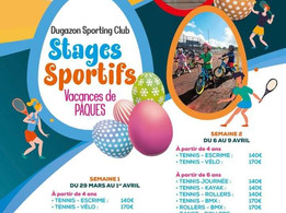 Stage Sportifs- Vacance de Pâques - Dugazon Sporting Club