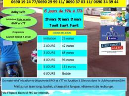 Vacance BMXGuadeloupe Pâques 2021