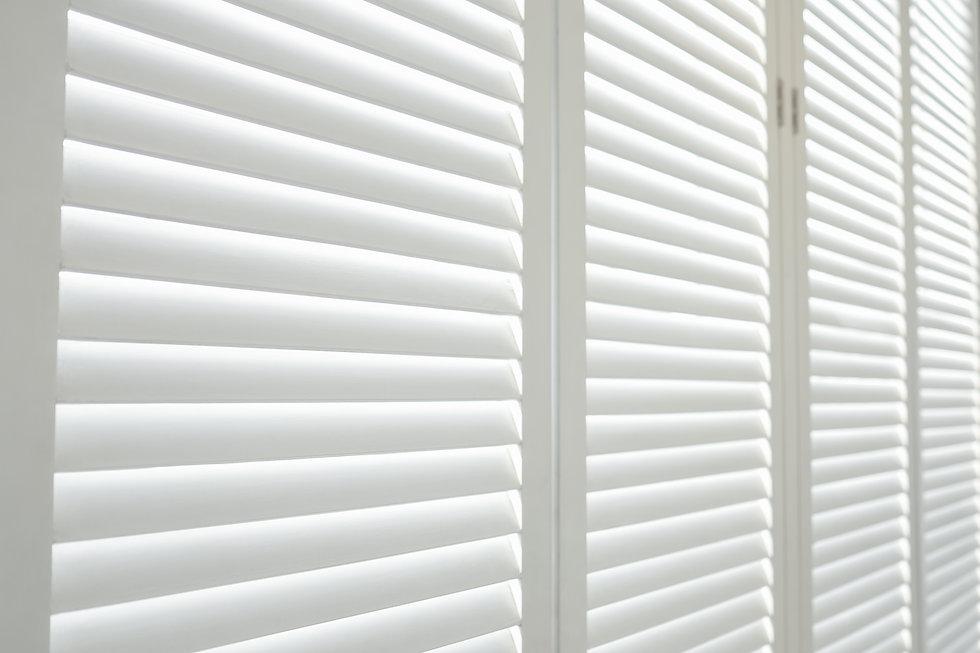 White wooden shutters, White wooden blin