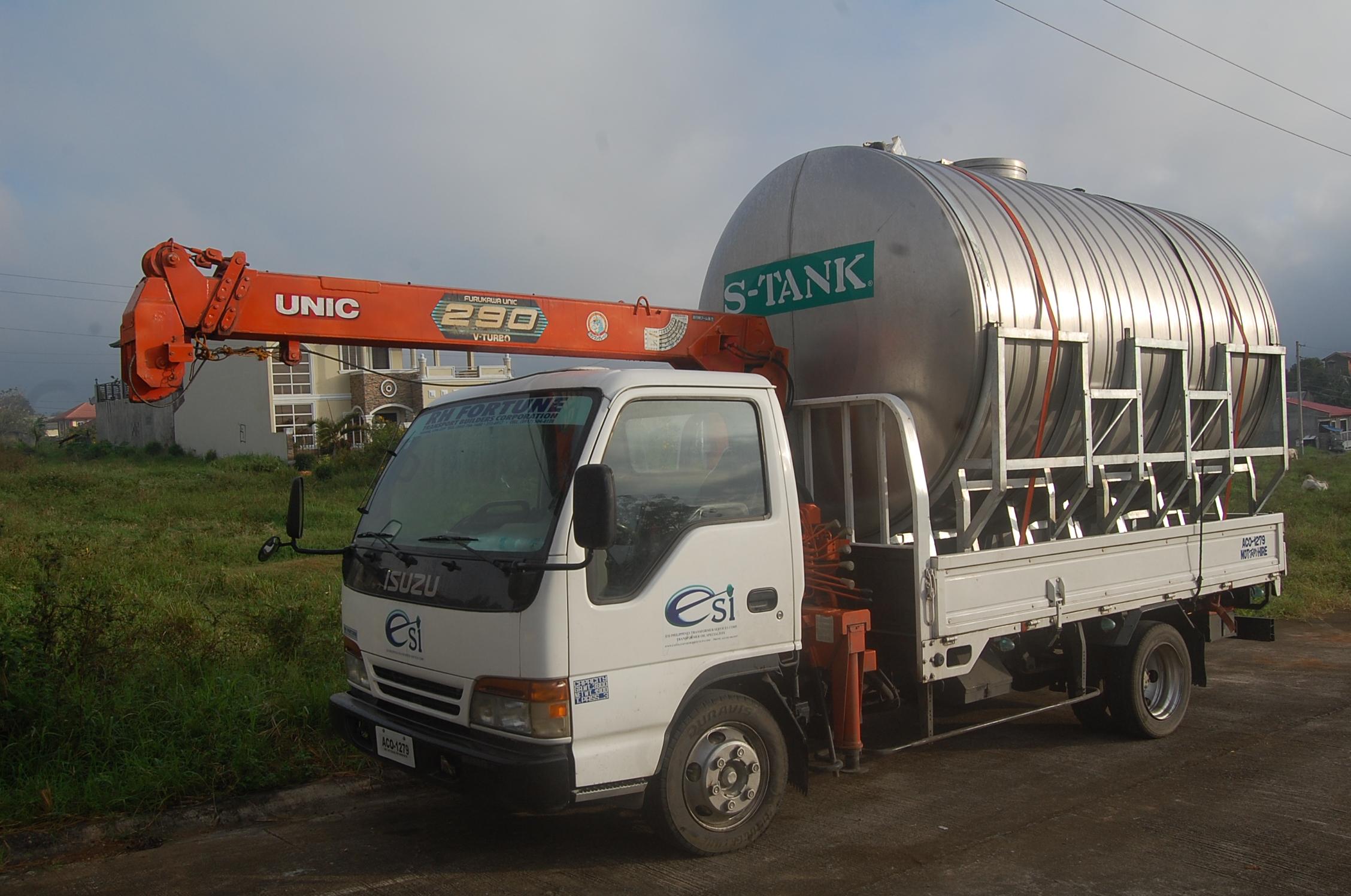 ESI 12800 litre tank