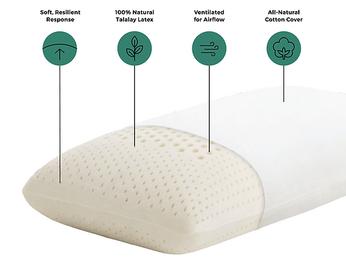 Talalay Latex Low Loft Plush Pillow