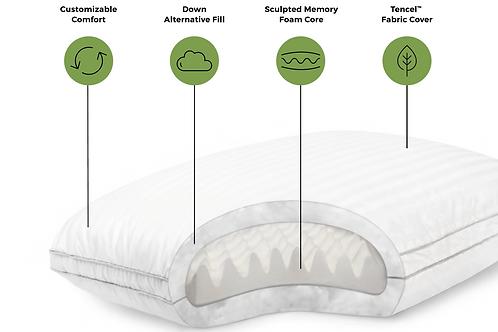 Gelled Fiber with Memory Foam Pillow