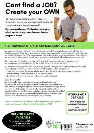 entrepreneurial mindset workshop
