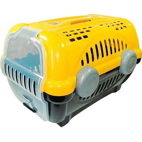 Caixa de Transporte Furacão Pet Luxo Amarela N° 1