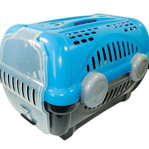 Caixa de Transporte Furacão Pet Luxo Azul N° 2