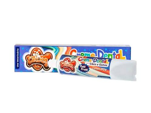 Creme Dental CatDog & Cia Caixinha Tutti-Frutti para Cães e Gatos