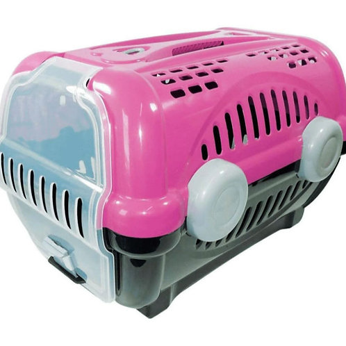Caixa de Transporte  Furacão Pet Luxo Rosa N° 2