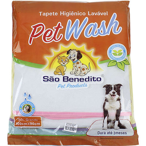 Tapete Higiênico Pet Wash São Benedito Pet Lavável Rosa M