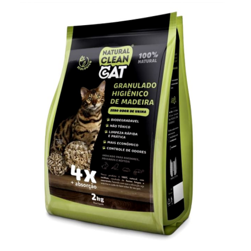 Granulado Higiênico de Madeira Natural Clean CAT