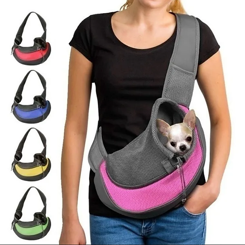 Bolsa de Ombro Para Transportar Pet Animais Cachorro Gato