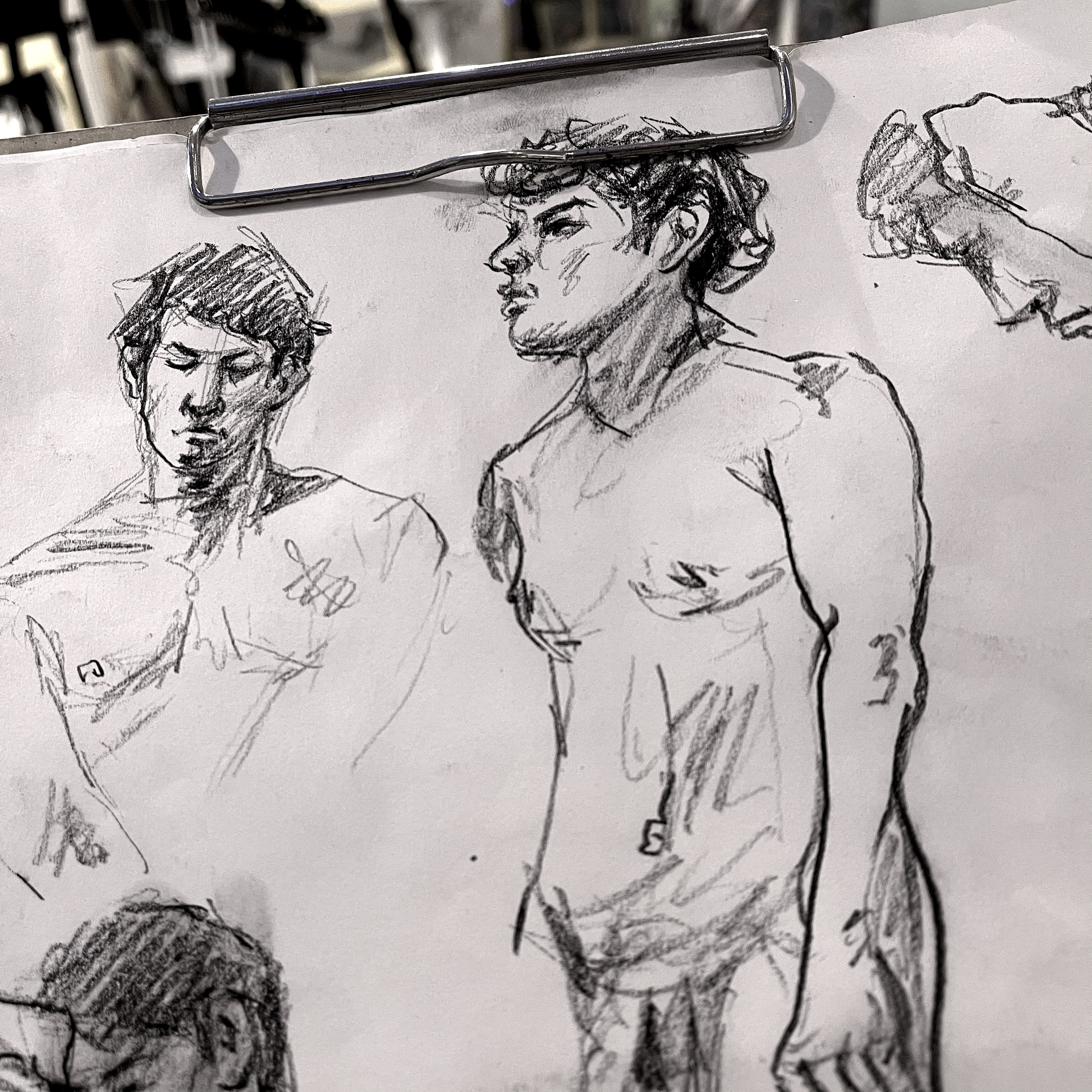 Live Model Drawing Session