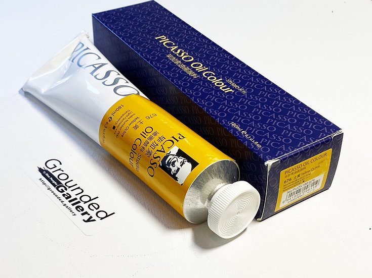 Picasso Oil Paint - 676 Yellow Ochre
