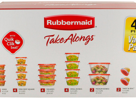 Walmart | Rubbermaid TakeAlongs Food Storage Containers 40 Pc Set