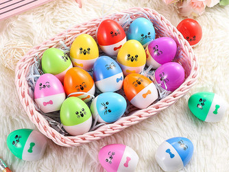 Egg Shaped Stamps for Easter Baskets Stuffers 18PK