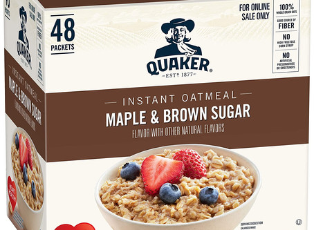 Amazon | Quaker Instant Oatmeal, Maple & Brown Sugar, Individual Packets, 48 Count