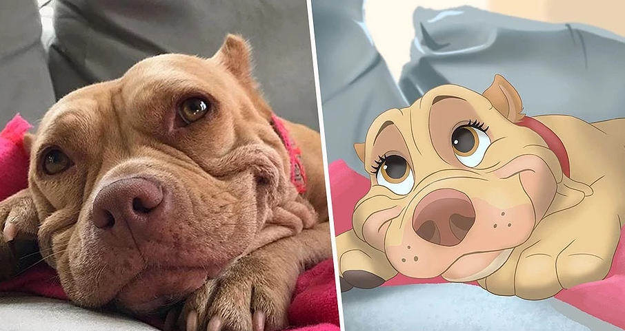 "This Brilliant Artist ""Disneyfies"" Peoples Pets Include Disney Characters"
