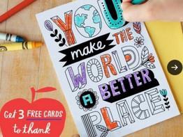 Free Hallmark Thank You Teacher Card Pack