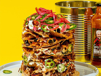 Goldbelly x Guy Fieri's BBQ Trash Can Nachos Kit